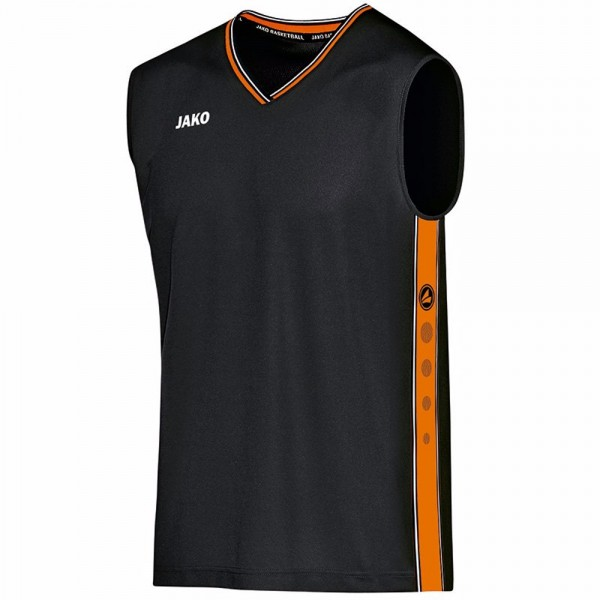 Jako Trikot Center Kinder schwarz/neonorange