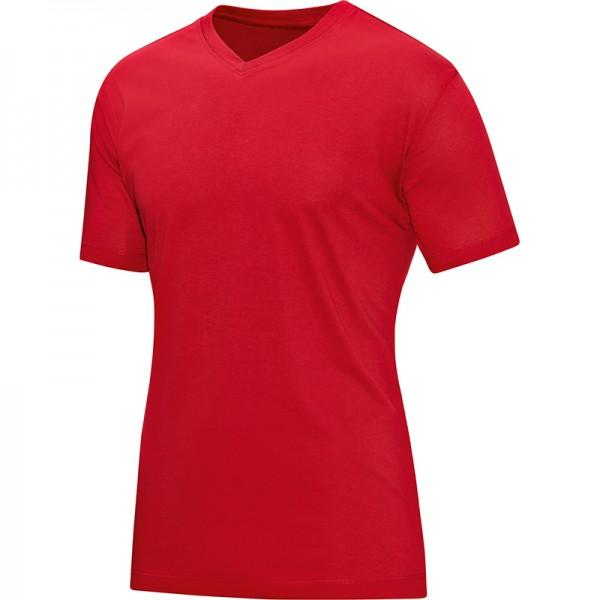Jako T-Shirt V-Neck Herren rot 6113-01