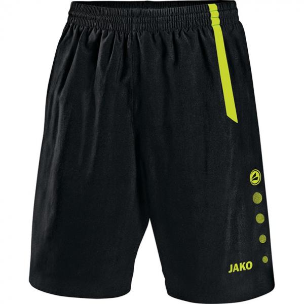 Jako Sporthose Turin ohne Innenslip Herren schwarz/neongrün