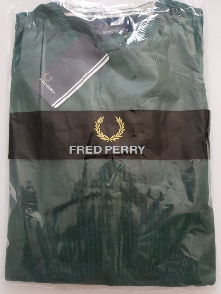 Fred Perry Pullover Rundhals dunkelgrün K3311 - 506