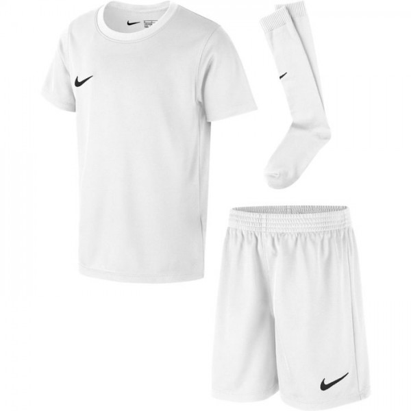 Details zu Nike Park Little Kids Kinder Trikot Set Short Trainingsset weiß AH5487 100